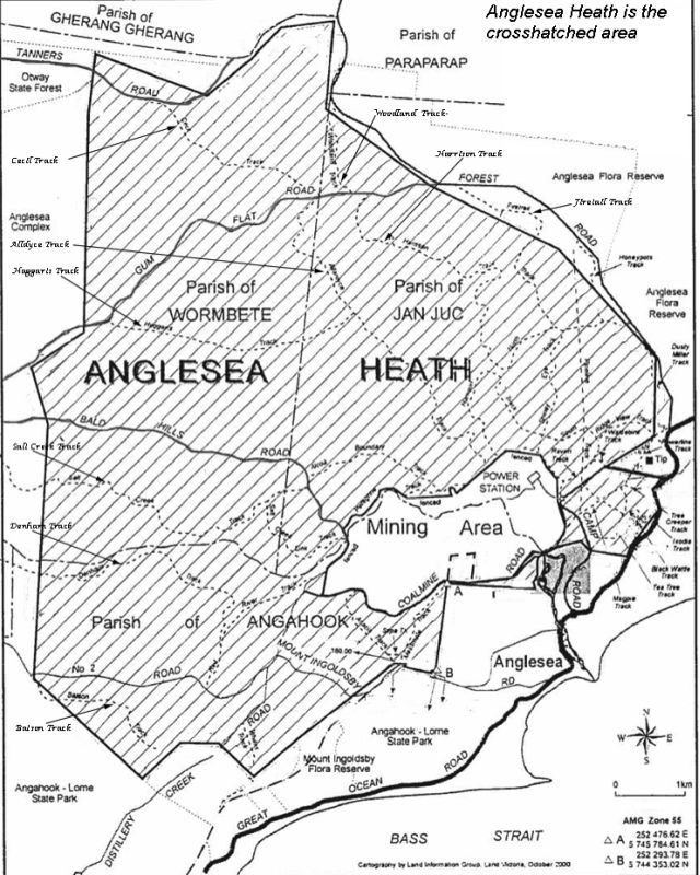 Map of Anglesea Heathland
