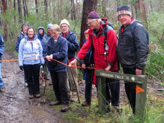Ceremony - opening the Currawong Falls Track