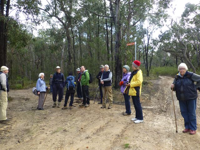 Group at start of ironbark Drive