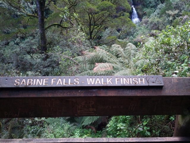 Sabine Falls – Walk Finish